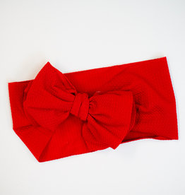 Bailey's Blossoms Messy Bow Headwrap Red