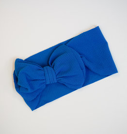 Bailey's Blossoms Messy Bow Headwrap Royal