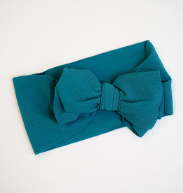 Bailey's Blossoms Messy Bow Headwrap Peacock