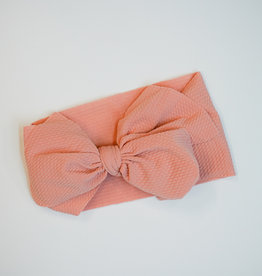 Bailey's Blossoms Messy Bow Headwrap Coral