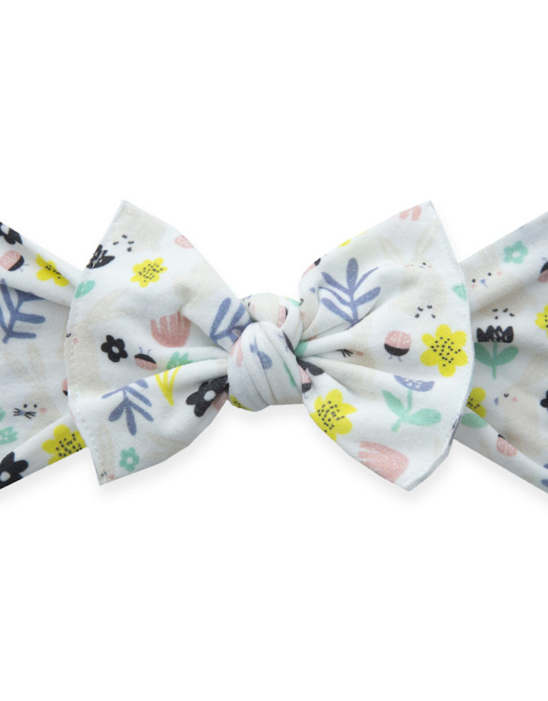 Baby Bling Bow Printed Knot Bow Hunny Bunny