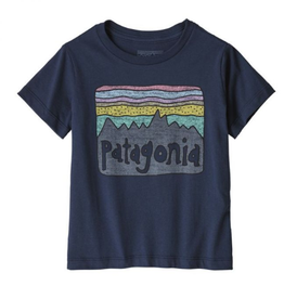 Patagonia Fitz Roy Skies Tee New Navy 3/6M