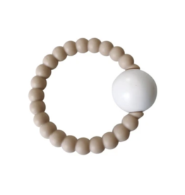 Chewable Charms Teether Toy Rattle Cream
