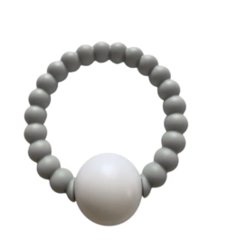 Chewable Charms Teether Toy Rattle Grey