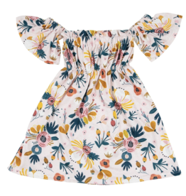 Mila & Rose Blush Peony Off the Shoulder Dress 2T-4T