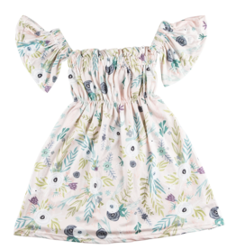 Mila & Rose Off the Shoulder Dress Peach Woodland 3T