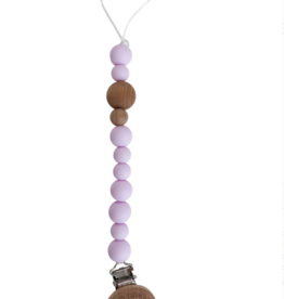 Chewable Charms Pacifier Clip Lavender