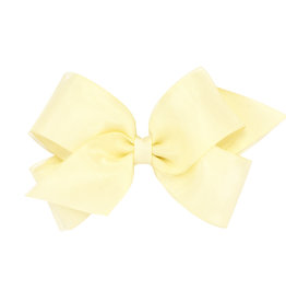 Wee Ones Med. Organza Overlay Bow Ant White