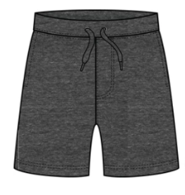 Globaltex Kids Terry Shorts Charcoal 2T-4T