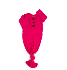 Gigi and Max Knotted Gown Penelope Raspberry NB