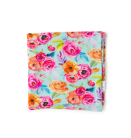 Gigi and Max Tessa Teal Floral Swaddle