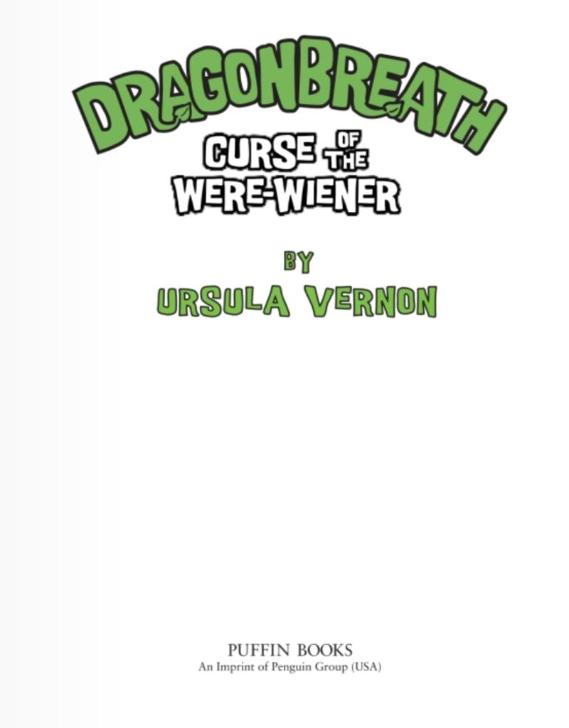 Random House Publishing Dragon Breath  Curse of the Were-Wiener