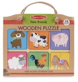 Melissa & Doug Wooden Puzzle Farm Friends