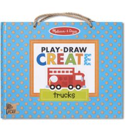 Melissa & Doug Play, Draw, Create Trucks