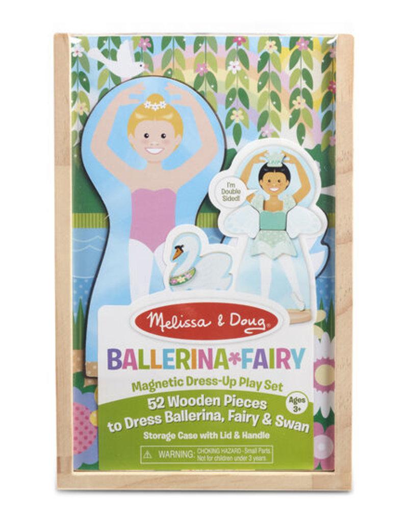 Melissa & Doug Magnetic Pretend Set Ballerina & Fairy