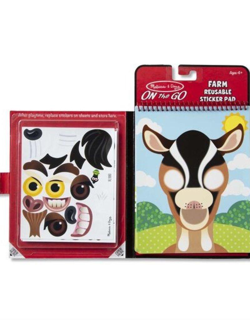 Melissa & Doug Make a Face Sticker Pad Farm