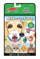 Melissa & Doug Make a Face Sticker Pad Pets