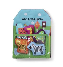 Melissa & Doug Cloth Book Who Lives Here?