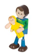 Melissa & Doug Wooden Flex Family Figures