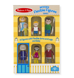 Melissa & Doug Wooden Flex Family Figures