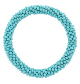 Jane Marie Beaded Roll on Bracelet Turquoise Icing
