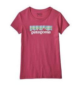 Patagonia Girls Pastel P-6 Logo Tee L(12)
