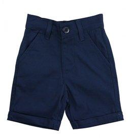 Ruffle Butts Cuffed Chino Shorts  Navy 12/18M