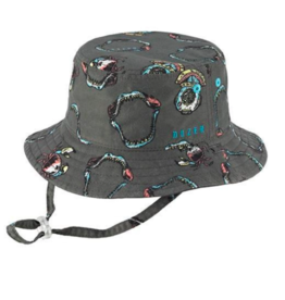 Millymook Boys Bucket Hat Turner Charcoal