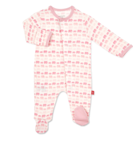 Magnetic Me Pink Elephant Footie 6/9M