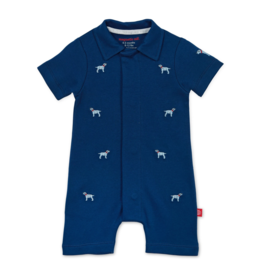 Magnetic Me Best in Show Organic  Polo Romper 6/9M