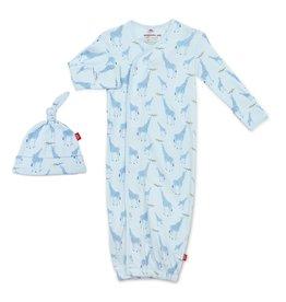 Magnetic Me Blue Jolie Giraffe Gown w/Hat 0/3M