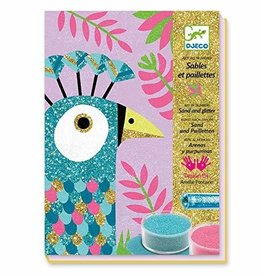 Djeco Dazzling Birds Colored Sand Set