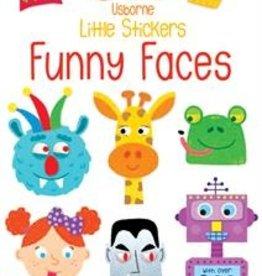 Usborne Little Stickers Funny Faces