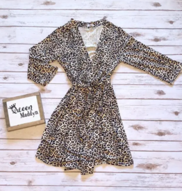 Queen Maddyn Robe and Gown 3 pc Set Leopard