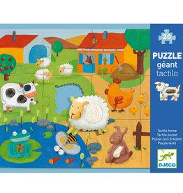 Djeco Giant Floor Puzzle Tactile Farm