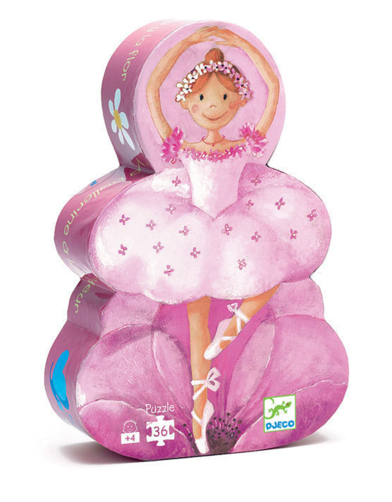 Djeco Silhouette Ballerina w/Flower Puzzle
