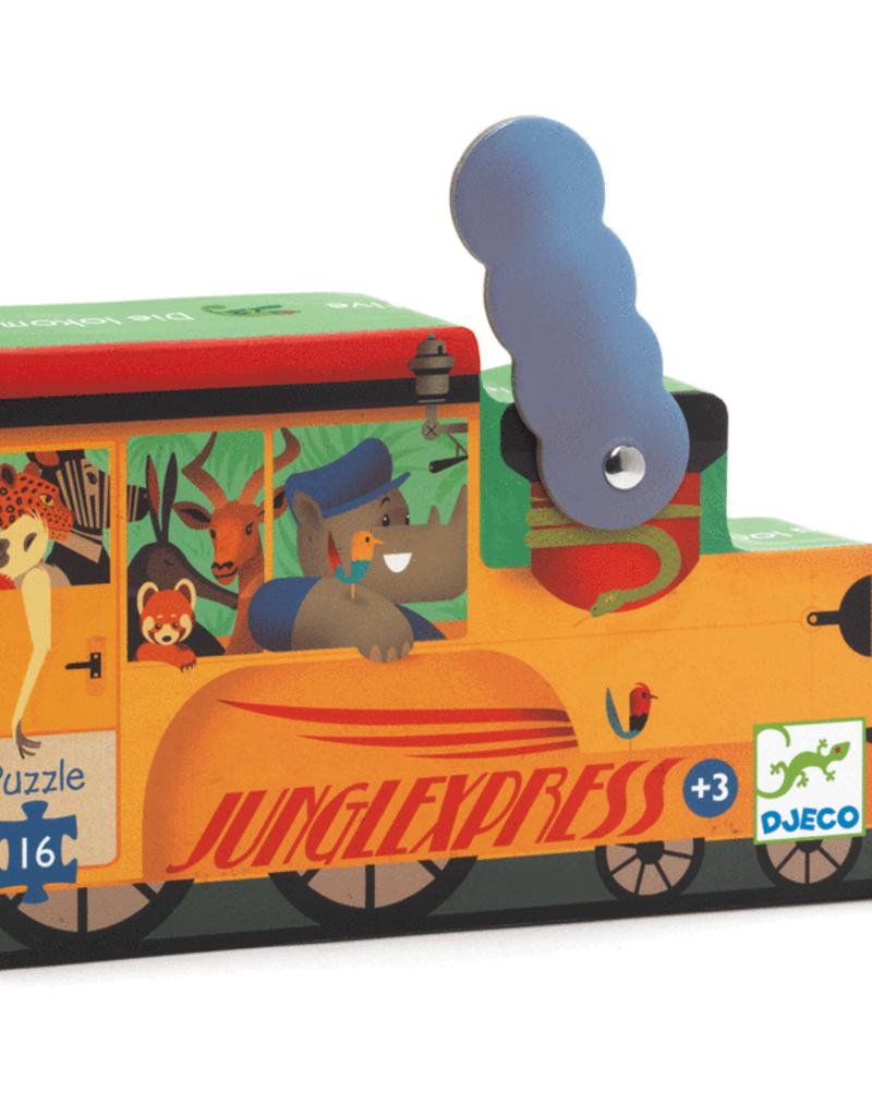 Djeco Silhouette The Locomotive Puzzle