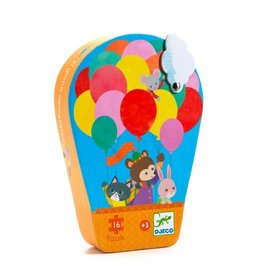 Djeco Silhouette Hot Air Balloon Puzzle