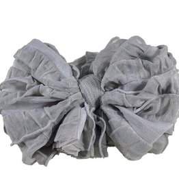 In Awe Ruffle Headwrap Sterling