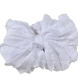 In Awe Ruffle Headwrap White