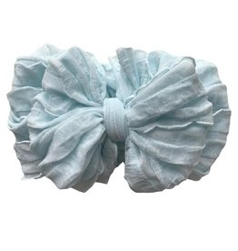 In Awe Ruffle Headwrap Sky Blue