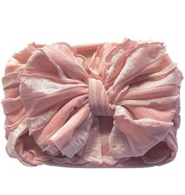 In Awe Ruffle Headwrap Rose Gold