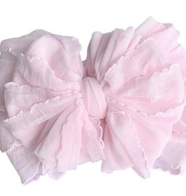 In Awe Ruffle Headwrap Perfect Pink