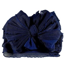 In Awe Ruffle Headwrap Navy