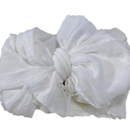 In Awe Ruffle Headwrap Ivory