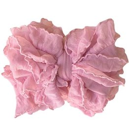 In Awe Ruffle Headwrap Bubblegum Pink