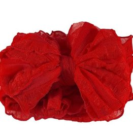 In Awe Ruffle Headwrap Bright Red