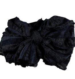 In Awe Ruffle Headwrap Black