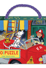 eeBoo Fire Truck Dog 20 Pc Puzzle