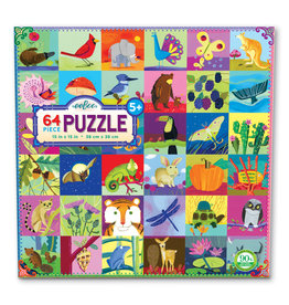 eeBoo Portraits of Nature 64 Pc Puzzle